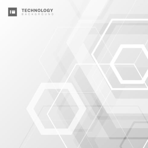 Technologie de forme abstraite géométrique à six pans vecteur