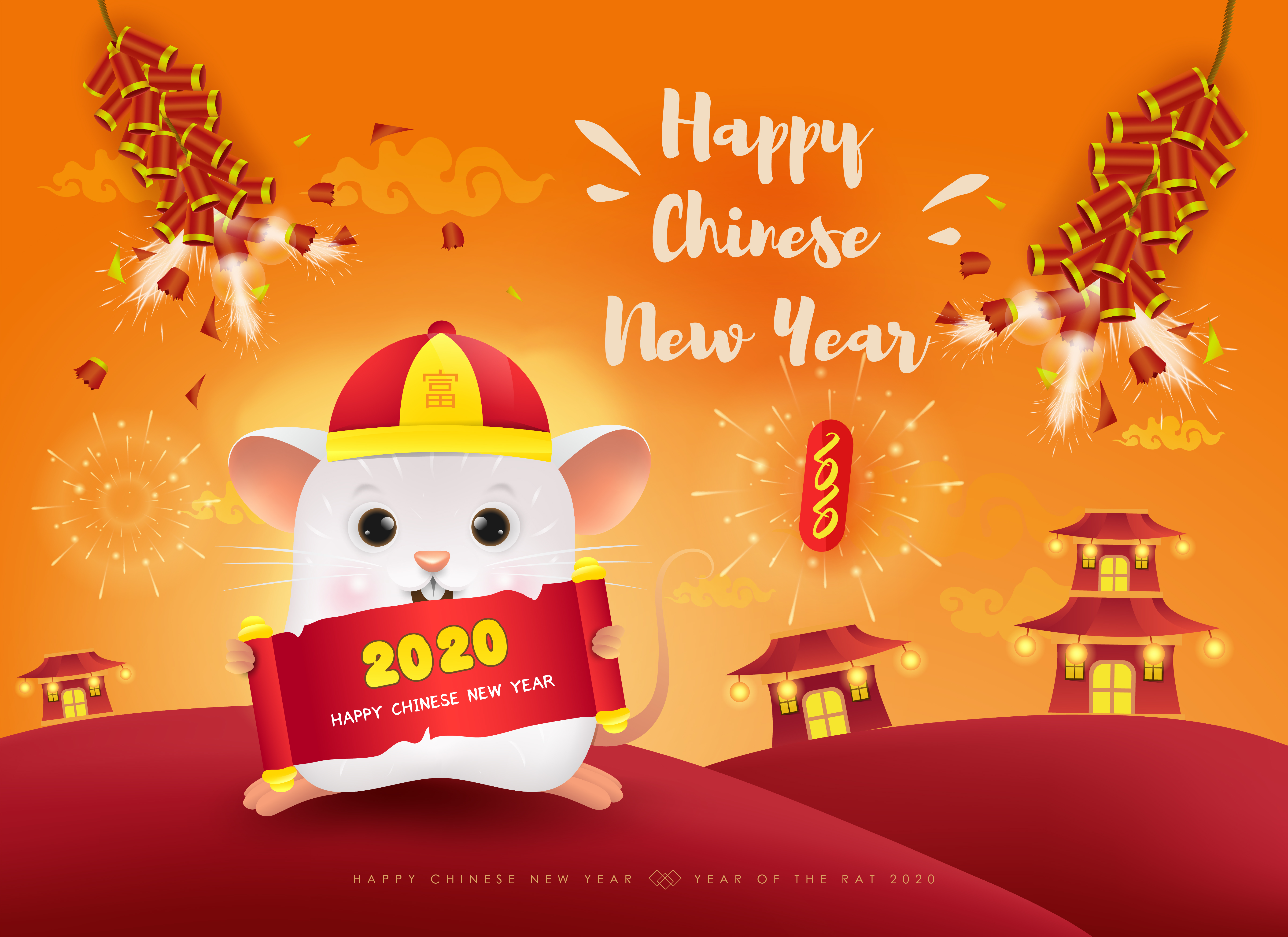 This is a graphic of Punchy Chinese New Year 2020 Images Free