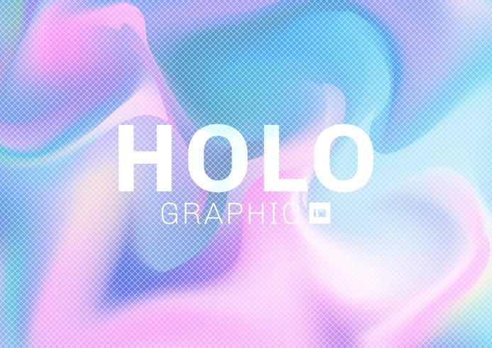 Tarjeta hipster holográfica en colores pastel vector