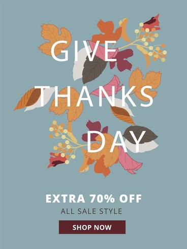 Affiche de vente d'automne de Give Day Thanks