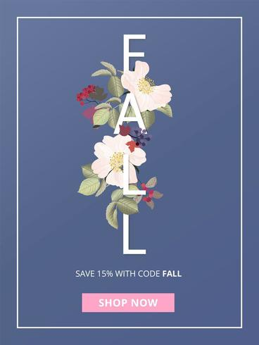 Vertical Abstract Fall Sale Poster