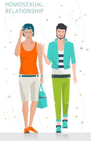 Två män som går tillsammans