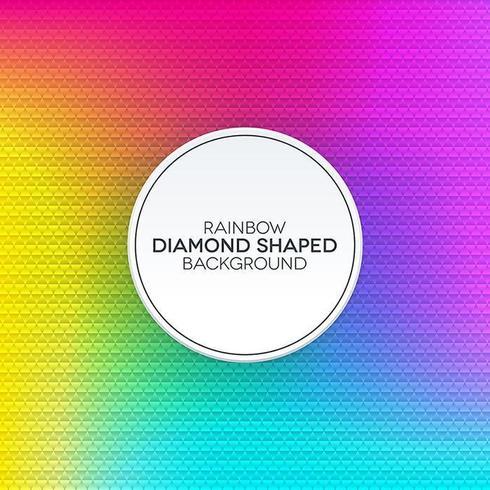 Regnbågens tonad bakgrund med diamantformad textur