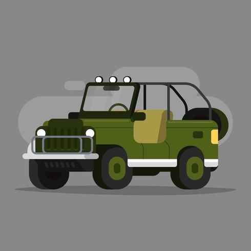 grön safari jeep