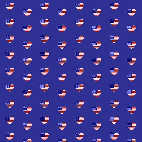 USA coeur patterns set vector