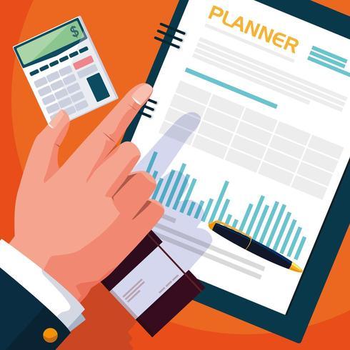 vista aérea empresario planificación