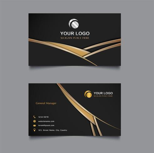Layered gold and black business card