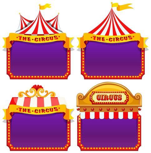 Set of circus banners