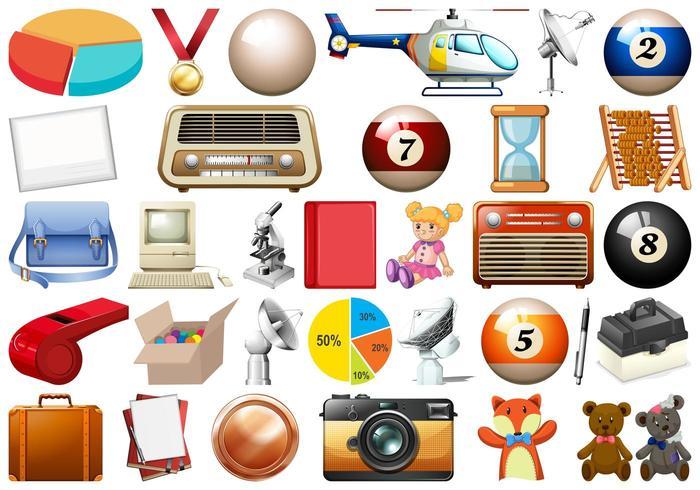 Ensemble de nombreux objets