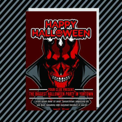 Banner de noche de fiesta de Halloween vertical