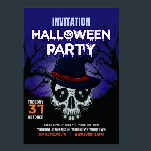 Cartel vertical de noche de fiesta de Halloween
