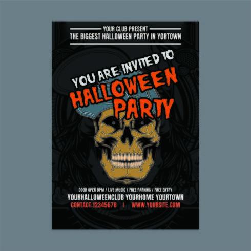 Cartel vertical de fiesta de Halloween