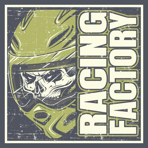 Modèle de conception de t-shirt Racing Factory vecteur