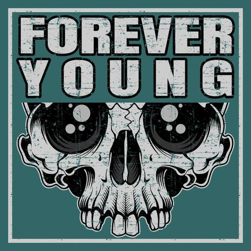 T-Shirt design Template Forever Young