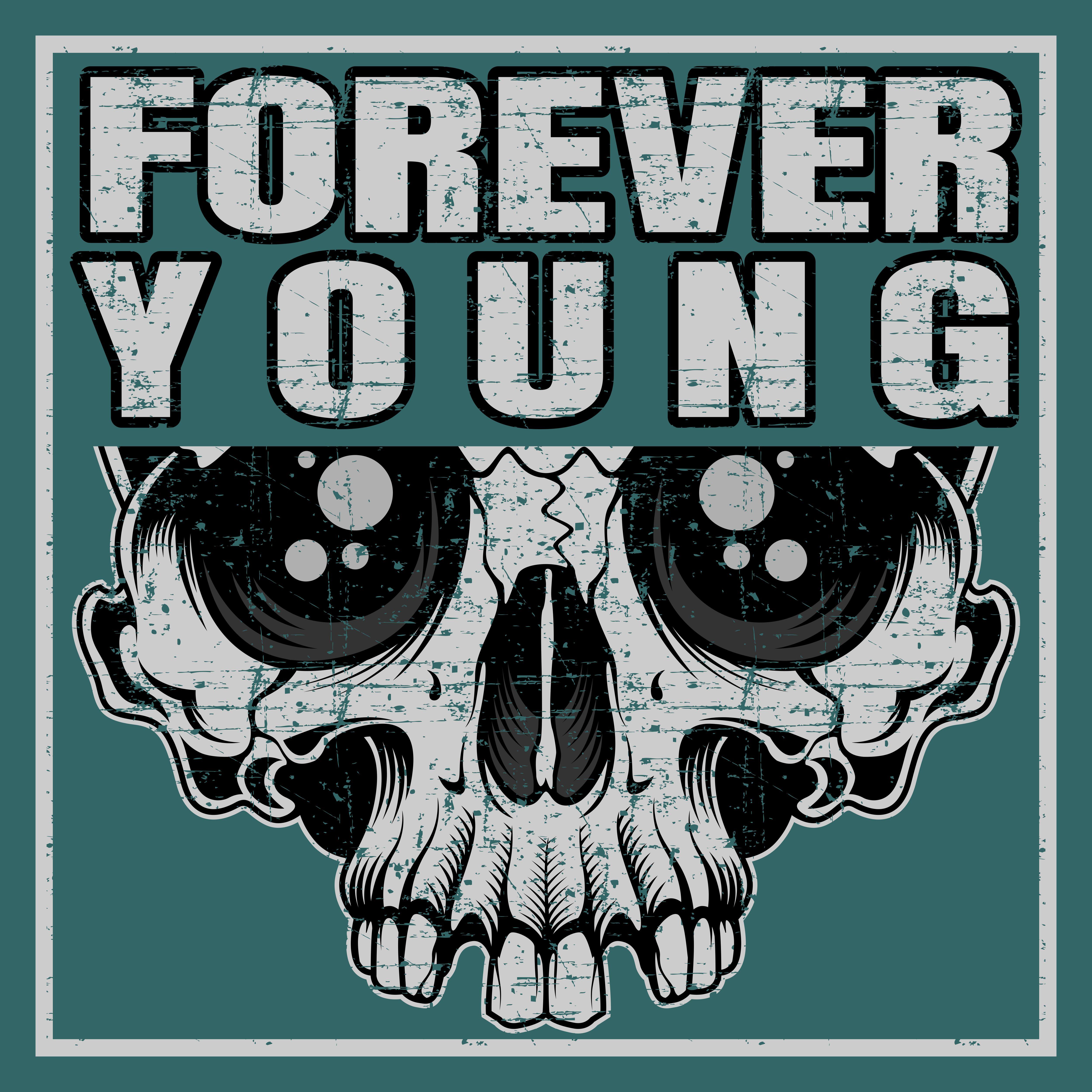 tshirt designvorlage für immer jung  download kostenlos