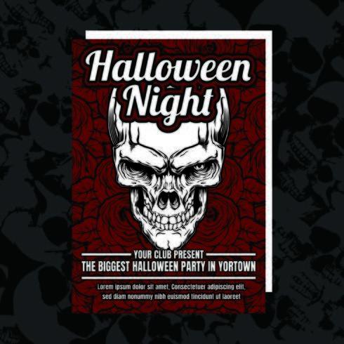 Folleto de invitación de fiesta malvada de Halloween