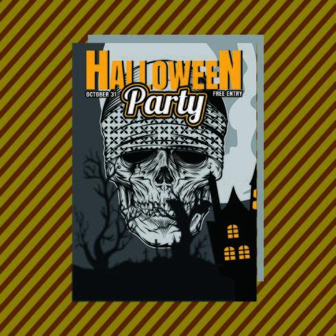 Invitación de fiesta de Halloween Flyer. Vector editable