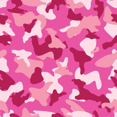 Patrón de color transparente de camuflaje rosa