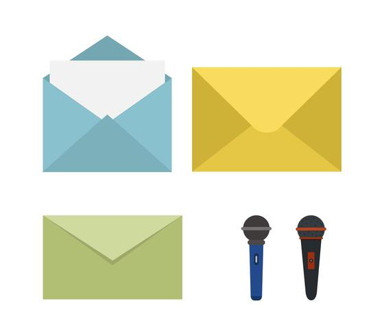 Set di icone del messaggio vettore