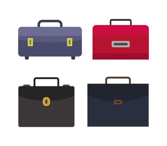 Set di icone di borse da lavoro vettore