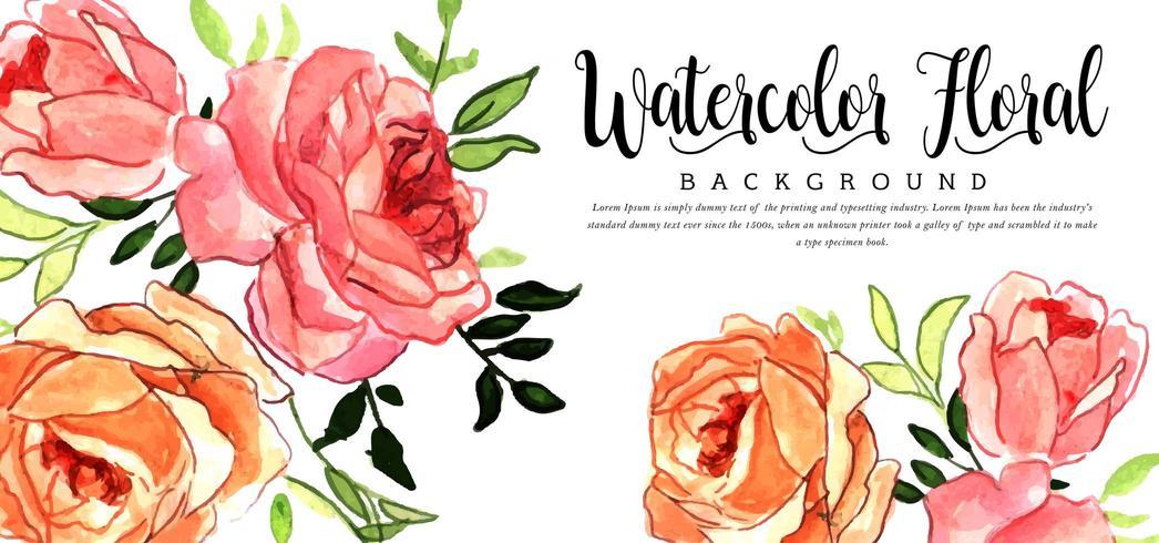 Akvarell blommig bakgrund