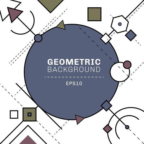 Abstracte blauwe en grijze geometrische en streepjeslijnsamenstelling