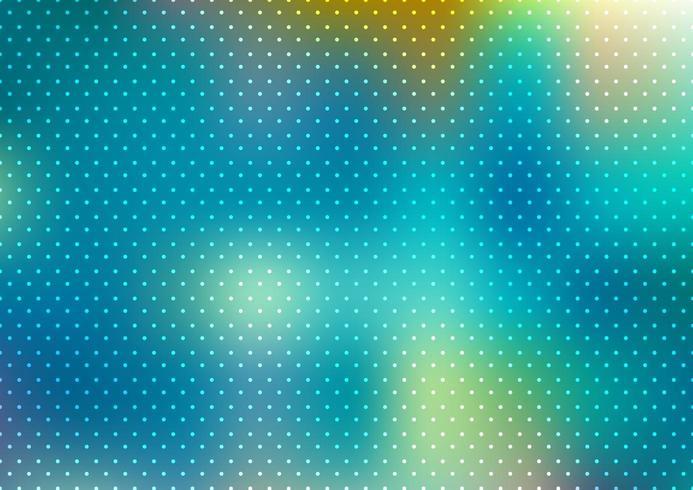 Abstrait bleu flou à pois vecteur