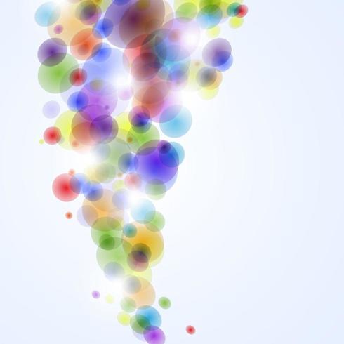 Abstrato com bolhas coloridas do arco-íris