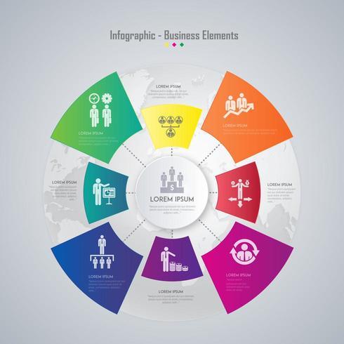 Infografica affari colorati