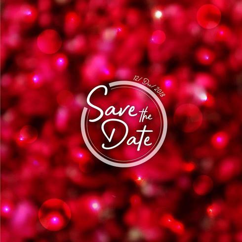 Rose Petals Wedding Invitation Background