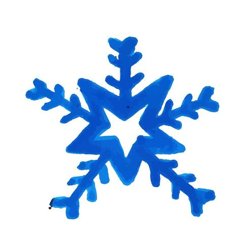Hand Drawn Watercolor Snowflake vector