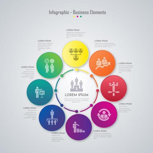 Infographie colorée de l'entreprise vecteur