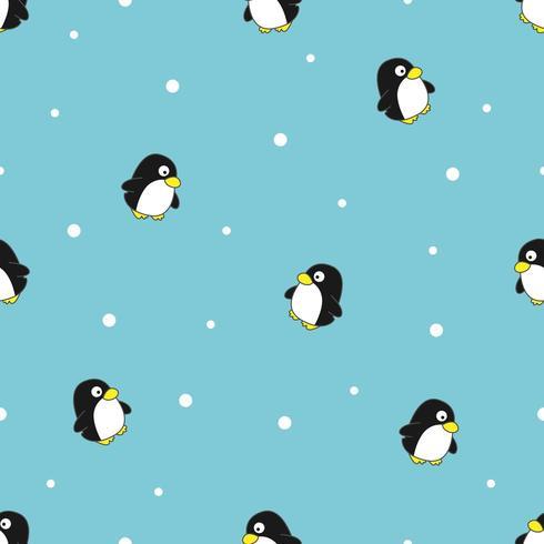 Modèle sans couture de pingouin vecteur