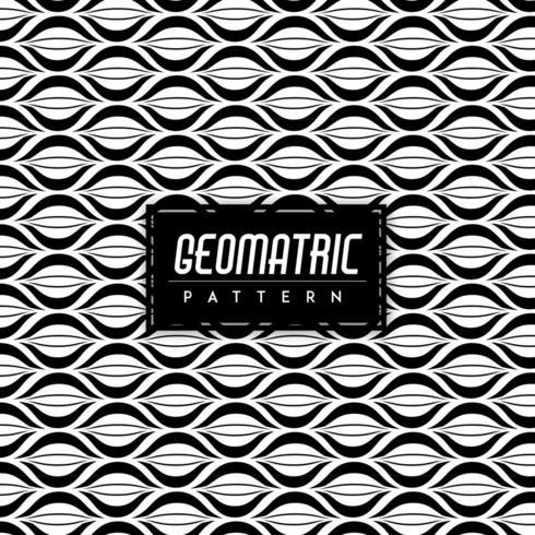 Preto e branco geomatric sem costura de fundo