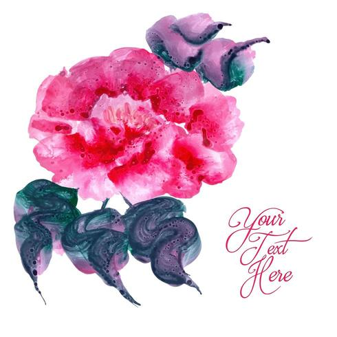 Watercolor Floral Suggestive Style