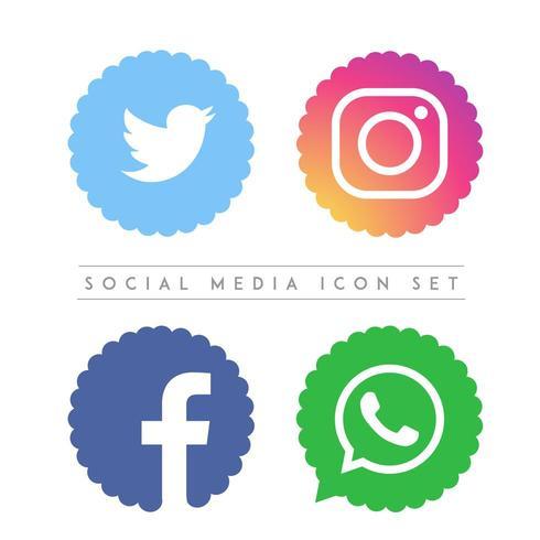 Conjunto de ícones de vetor de mídia social