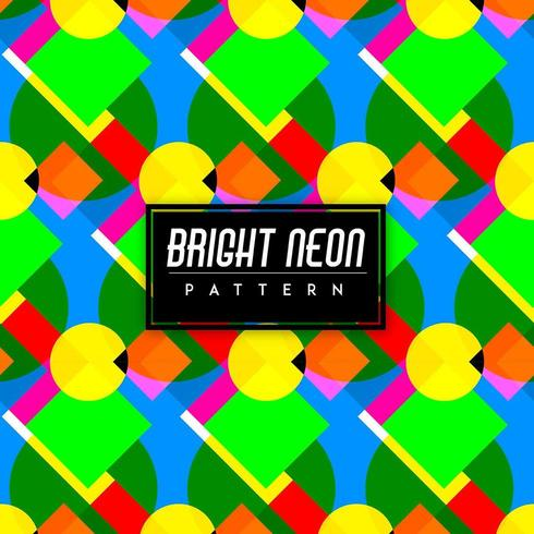 Bright Neon Colorful Shapes Seamless Pattern Background vector