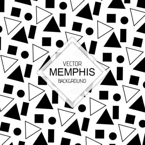 Fondos de Memphis en blanco y negro