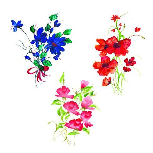 Beautiful Watercolor Floral Arrangement vector
