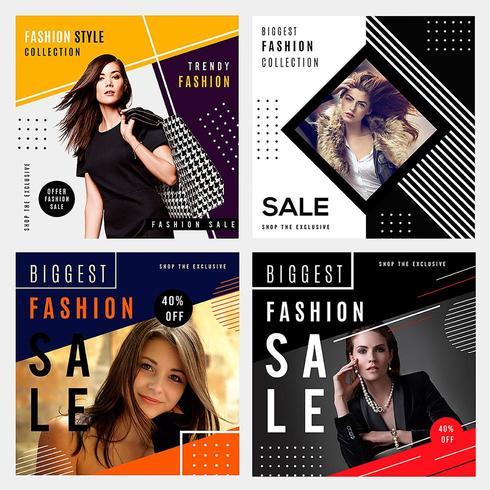Graphiques de vente de mode vecteur