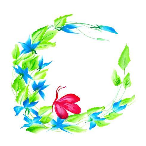 Bella composizione floreale viola e blu dell'acquerello