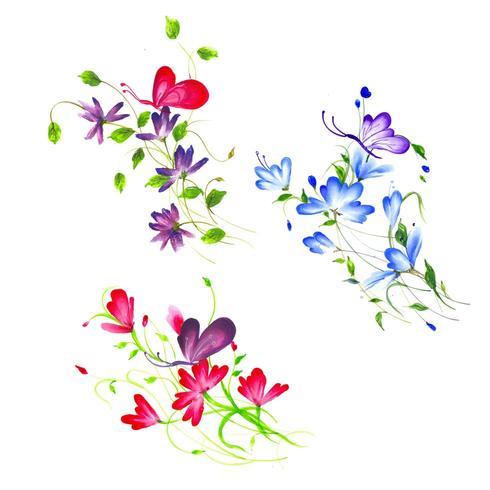 Bella composizione floreale dell'acquerello