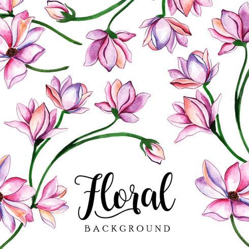 Sfondo floreale ad acquerello