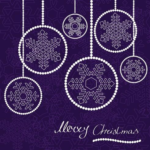Moderne Weihnachtskugelkarte