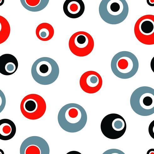 Padrão sem emenda com círculos abstratos