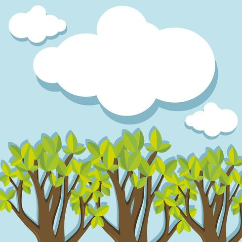 Einfacher grafischer Wald tagsüber