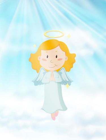 Anjo voando no céu