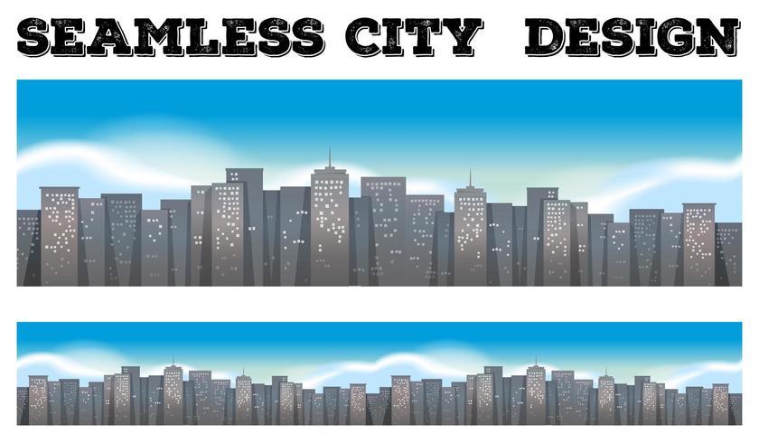 Naadloze achtergrond van gebouwen in de stad
