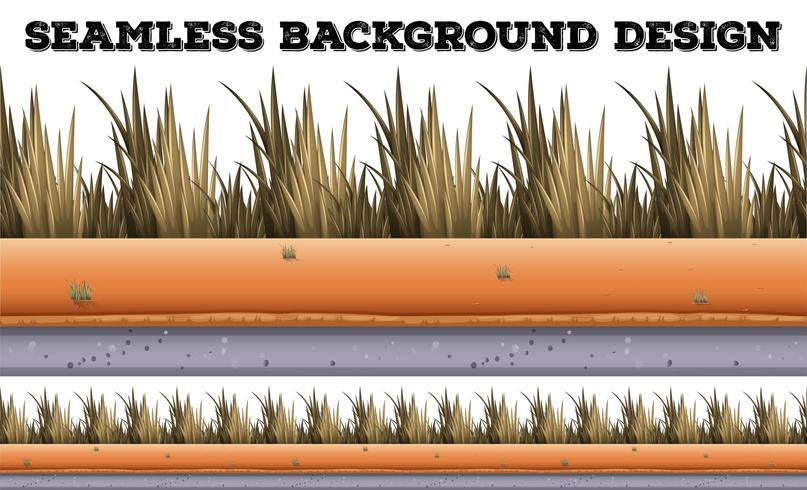 Fondo transparente con hierba seca vector