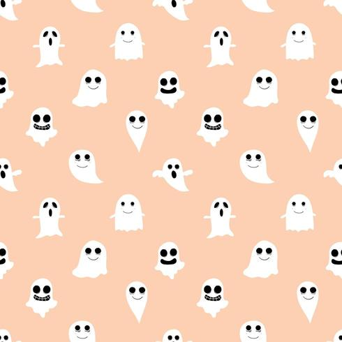 Fondo transparente naranja fantasma y ghoul